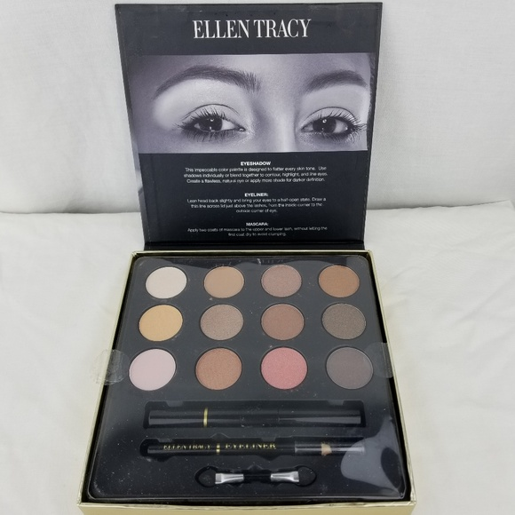 Ellen Tracy Golden Nudes Eye Maje Up Collection Nwt